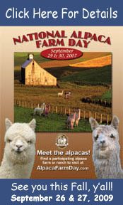 National Alpaca Farm Day Poster